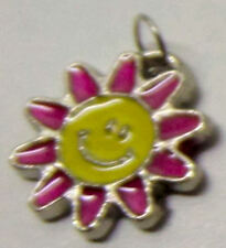 loom band charms, add to your bracelet, pink flower smiley face