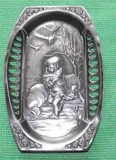 c1900 WMF Cupid Glasgow Rose Relief  Pewter Card / Pin Tray B