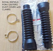Royal Enfield caucho Tenedor Polainas polvo tapa de 32 X 50 X 230MM con abrazaderas de fijación