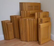 SELECTION OF SOLID OAK FRAMED KITCHEN CUPBOARD DOORS and DRAWER FRONTS