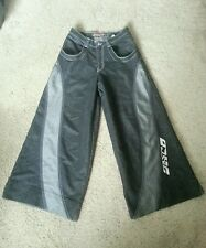 JNCO Jeans Solid State Reflective Appearance Black Wide Leg Pants 33x32 EUC