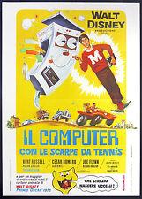 CINEMA-manifesto IL COMPUTER CON LE SCARPE DA TENNIS russell,romero,flynn,BUTLER