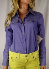 NWT WRANGLER Saddle Stitched Embroidered Long Sleeve Western Cowgirl Shirt Small