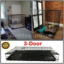 Dog Crate Folding Wire Metal Puppy Kennel Cage XXL Large Giant Training Houses