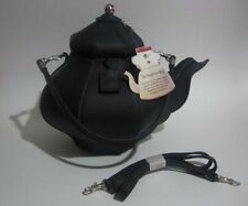 *RETIRED* Pylones Inspired Teapot Purse (Black)