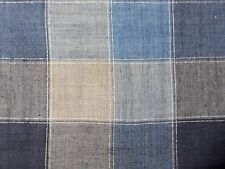 3 YARDS OF A PLAID LINEN AND VISCOSE BLUES /GRAY/ BEIGE MADE IN ITALY!!!!!!!!!!!
