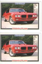 1970 Pontiac GTO Judge Baseball Card Sized Cards - lot of 2 - Must See !!