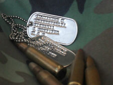 CUSTOM U.S. ARMY MILITARY DOG TAGS SPEC ID DOGTAGS