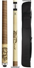 3D DRAGON MCDERMOTT NEW STAR S64 BILLIARD TWO PIECE POOL CUE STICK + SOFT CASE