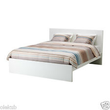IKEA MALM Full High Bed Frame with Slatted Bed Base, White