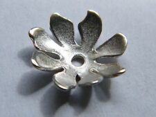 Sterling Silver Large Bead Cup 11mm Open Flower Petals ~ Beads-Pearls-Pendants