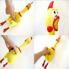 Small Latex Rubber Chicken Squeaky Pet Dog Toys Chew Toy Gift  Hot HT