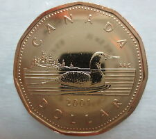 2001 CANADA LOONIE PROOF-LIKE ONE DOLLAR COIN