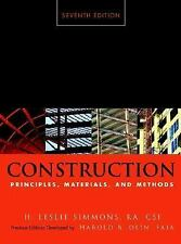 Construction Principles, Materials, and Methods by H. Leslie Simmons EUC 7TH ED.