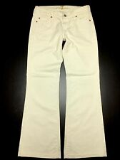 7 Seven for All Mankind Womens 25/28 Butter White Low-Rise Boot Stretch Jeans