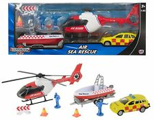 Teamsterz Air Sea Rescue Set Helicopter Speed Boat Jeep Toy Age 3+ NEW