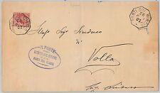 ITALIA REGNO:   LETTERA con annullo di COLLETTORIA di PONTI SUL MINCIO 1907