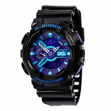Casio GA110HC-1A Men's G-Shock X-Large Anti-Magnetic World Timer Blue Dial Watch