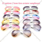 2 tone lens classic aviator men women unisex sunglasses 100% UV protection