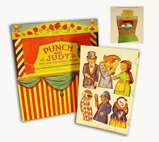 PUNCH AND JUDY THEATER stage puppet show toy game retro/vtg repro NEW in box