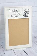 Shabby Chic Scottie Dog Memo Corkboard Cork Memo Board A Spoiled Dog Lives F0228