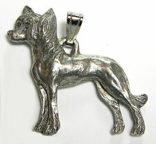 Chinese Crested Pendant Dog Harris Fine Pewter Made in USA jewelry