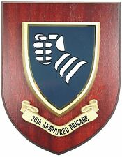 20TH ARMOURED BRIGADE  CLASSIC HAND MADE  REGIMENTAL MESS PLAQUE