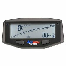 Acewell 1500 Digital Speedometer Tacho Speedo with Battery Motorbike MX Enduro