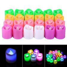 24PCS Smokeless Votive Candles Battery Electric Flickering LED Tea Lights Lamp J