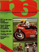mo 8/79 1979 Malaguti V4 Mokick Yamaha YZ 80 RD 400 Vespa P 125 X 200 E KS 175