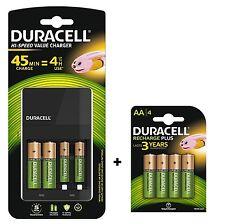 Duracell 45 Min AA / AAA Battery Charger + 8 BATTERIES (6 x AA + 2 AAA ) CEF14
