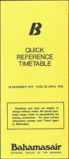 Bahamasair system timetable 12/15/77 [6102] Buy 2 Get 1 Free