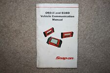 Snap-On OBD-II EOBD Vehilcle Communication Reference Manual MODIS Solus MT2500