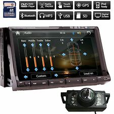 "Camera+ 7"" Car DVD Player GPS Navigation 3D Bluetooth Stereo Radio Touch Sc"