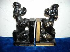 Pair of Vintage Poodle Bookends and Pen Holders Made in Japan