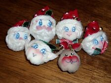 Christmas 3D Santa Mrs Claus Rudolph Reindeer Elf Puff Button Covers & Ear Rings