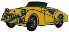 Triumph TR3A/B car cut out lapel pin - Yellow