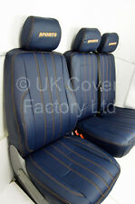 MERCEDES VITO upto 2015 Van Seat Covers   Blue Quilted PVc leather  X121BU-OG