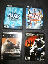 4 vint PC Video Games Sims Deluxe & Expansion Pack Project Snowblind Half-Life 2