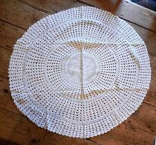 Round White Crochet Cotton Lace Tablecloth / Table Cover 36 inch / 95cm BNIB