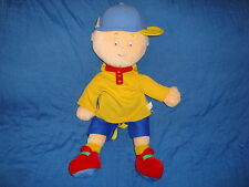 """Caillou Plush Backpack 2000 Cinar23"""" tall  zippered small storage pocket in back"""