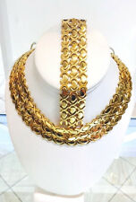 Hugs And Kisses XOXO Gold Tone Necklace And Bracelet Set (buy2 Get 1free)