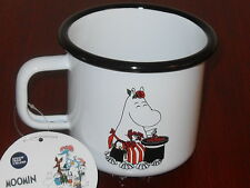"Finnish Retro Enamel Muurla ""Moomin Mamma"" Camping Mug – Brand New with Tag"