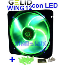 VENTOLA PWM VERDE a LED BIANCHI per CASE PC 120mm GELID FAN 12 120 25 UV 12cm!