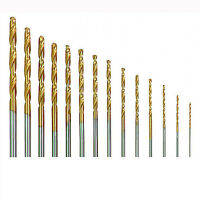 20 Micro HSS Twist Drill Bit Set Plastic Wood Metal Set Titanium Coated In Case