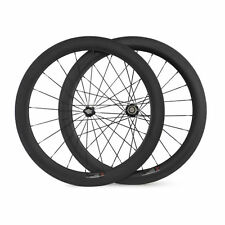 Cycling Road Bike 60mm Clincher  UK Stock 700C Carbon Wheels Bicycle Wheelset