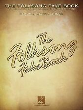 The Folk Song Fake Book Learn to Play Country Pop Piano Guitar Lyrics Music Book