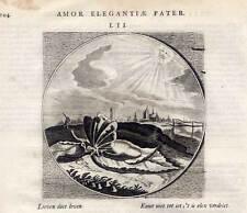 Emblemata-Kupferstich Cats Alle de Werken 1650 - Insekten