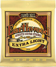 Ernie Ball 2006 Earthwood Acoustic 80/20 bronze Guitar Strings 10-50 extra lite