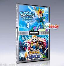 Pokemón 4: Por siempre y Pokemon Jirachi en Español Latino 2 Peliculas en 1 DVD